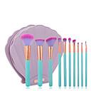 billige Kunstig Blomst-10pcs Makeup børster Profesjonell Børstesett / Rougebørste / Leppebørste Syntetisk hår / Kunstig fiber børste Reisen / Økovennlig / Profesjonell Tre