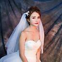 رخيصةأون LED مصابيح متوهجة-أربعة مستويات Cut Edge الحجاب الزفاف Elbow Veils مع تول / كلاسيكي
