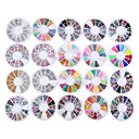 cheap Steering Wheel Covers-20 pack mixed lot 3d nail art decorations rhinestone 13 wheel sets colored rhinestones sliver crystal gemstones 3d glitter rhinestones charm gold