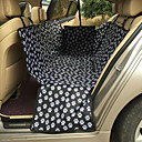 cheap Dog Travel Essentials-Cat Dog Car Seat Cover Pet Mats & Pads Solid Portable Foldable Breathable Double-Sided Massage Black For Pets