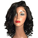 cheap Human Hair Wigs-Human Hair Full Lace Wig Loose Wave Wig 150% Hair Density Natural Hairline African American Wig 100% Hand Tied Women's Short Medium Length Human Hair Lace Wig