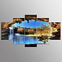 baratos Impressões em Tela Esticada-Estampados de Lonas Esticada Abstracto, 5 Painéis Tela de pintura Horizontal Estampado Decoração de Parede Decoração para casa