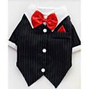 halpa Koiran vaatteet-Koira T-paita Koiran vaatteet Raita Musta Puuvilla Asu Lemmikit Miesten Naisten Sievä Rento / arki Muoti