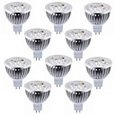 رخيصةأون سبوت لايتس LED-10pcs 5.5 W 450-500 lm MR16 LED ضوء سبوت 4 الخرز LED طاقة عالية LED ديكور أبيض دافئ / أبيض كول 12 V / بنفايات