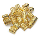 cheap Hair Braids-20pcs dreadlock beads adjustable hair braid cuff clip 8mm hole golden silver mixed color