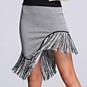 זול בגדי ריקוד לילדים-ריקוד לטיני חלקים תחתונים בגדי ריקוד נשים הצגה ספנדקס פרנזים טבעי חצאית