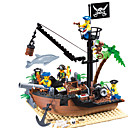 cheap 3D Puzzles-ENLIGHTEN Building Blocks Model Building Kit Construction Set Toys Pirate Ship Pirates compatible Legoing Boys' Girls' Toy Gift / Educational Toy