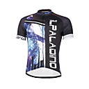 baratos Camisas & Shorts/Calças de Ciclismo-ILPALADINO Homens Manga Curta Camisa para Ciclismo Caveiras Moto Camisa / Roupas Para Esporte, Secagem Rápida, Resistente Raios