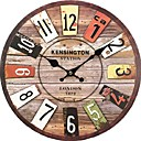 abordables Relojes Rústicos de Pared-Clásico Casual Tradicional Campestre Retro Oficina/ Negocios Madera Redondo Interior,Batería
