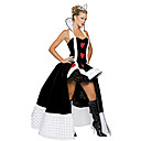 cheap Men's & Women's Halloween Costumes-Fairytale Queen Cosplay Costume Party Costume Women's Halloween Carnival New Year Festival / Holiday Halloween Costumes Outfits Black / White Patchwork