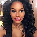 preiswerte Aufkleber für Nägel-Echthaar Vollspitze Perücke Wogende Wellen 130% Dichte 100 % von Hand geknüpft Afro-amerikanische Perücke Natürlicher Haaransatz Kurz