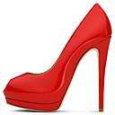 baratos Sapatos de Salto-Mulheres Sapatos Couro Sintético Primavera / Verão Sapatos clube Saltos Salto Agulha Peep Toe Vermelho / Casamento / Festas & Noite / Social / Festas & Noite