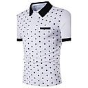 baratos Adesivos de Parede-Homens Polo Estampado Algodão Colarinho de Camisa / Manga Curta