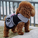 cheap Pet Christmas Costumes-Dog Dress Dog Clothes Princess Black Cotton Costume For Pets Men's Women's Classic Cute Casual/Daily Holiday Birthday Reversible Fashion