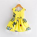 זול שמלות לבנות-שמלה קיץ ללא שרוולים יומי ליציאה דפוס הילדה של חמוד סגנון רחוב צהוב
