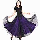 preiswerte Tanzkleidung für Balltänze-Für den Ballsaal Kleider Damen Leistung Elasthan / Tüll Farbaufsatz Kurze Ärmel Kleid