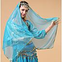 abordables Accesorios de Baile-Danza del Vientre Velo Mujer Rendimiento Tul Cristales / Rhinestones Para la Cabeza / Velo