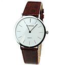 baratos Relógios da Moda-Homens Relógio de Pulso Legal Couro Legitimo Banda Casual / Fashion Preta / Marrom