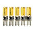 billige GPS-sporingsutstyr-5pcs 4W 450lm E14 G9 G4 LED-lamper med G-sokkel T 4 LED perler COB Mulighet for demping Varm hvit Hvit 220-240V