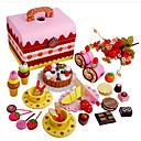 رخيصةأون لعب أطفال مطابخ & أطعمة-ألعاب الطعام لعب تمثيلي كعكة خشبي للأطفال صبيان فتيات ألعاب هدية 1 pcs