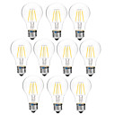 cheap LED Bi-pin Lights-BRELONG® 10pcs 4W 300lm E27 LED Filament Bulbs A60(A19) 4 LED Beads COB Dimmable Warm White White 200-240V