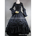 cheap Petticoats-Gothic Lolita Dress Elegant Vintage Inspired Women's Dress Cosplay Black Floor Length Costumes