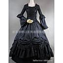 halpa Vanhan maailman asut-Gothic Lolita Tyylikäs Vintage-kokoelma Naisten Mekot Cosplay Musta Kokopitkä Puvut