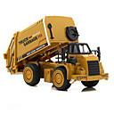 halpa Building Blocks-Kaivuri Sanitaation kuorma Toy Trucks & Rakennusajoneuvot Leluautot Muottivaletut ajoneuvot Metalliseos ABS Unisex Lasten Lelut Lahja