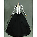 cheap Historical & Vintage Costumes-Gothic / Victorian / Medieval Costume Women's Dress / Party Costume / Masquerade Black Vintage Cosplay Cotton Long Sleeve Cap Sleeve Floor Length