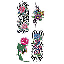 hesapli dövme çıkartma-1 pcs Dövme Etiketleri geçici Dövme Çiçek Serisi Su Geçirmez body Art eller / kol / bilek