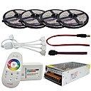 cheap LED Strip Lights-LED Strip Waterproof Set 5050 20M 4*5M 240W With 2.4G Touch Screen RF Remote Controller 12V 20A Power Adapter Kit
