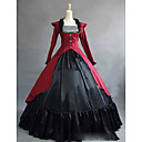 cheap Historical & Vintage Costumes-Rococo Victorian 18th Century Costume Women's Dress Party Costume Masquerade Red Vintage Cosplay Satin Party Prom Long Sleeve Cap Sleeve Floor Length