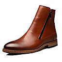 ieftine Cizme Bărbați-Bărbați Pantofi de noutate Piele Toamnă / Iarnă Confortabili Cizme Plimbare Negru / Maro / Party & Seară