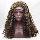 cheap Synthetic Lace Wigs-Synthetic Lace Front Wig Curly Blonde Synthetic Hair Natural Hairline Blonde / Brown Wig Women's Medium Length / Long Lace Front