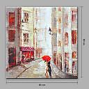 baratos Pinturas Abstratas-Pintura a Óleo Pintados à mão - Abstrato Abstracto Tela de pintura