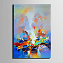 cheap Abstract Paintings-Oil Painting Hand Painted - Abstract Retro Canvas