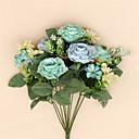 preiswerte Rucksäcke-Künstliche Blumen 1 Ast Europäischer Stil Rosen Tisch-Blumen