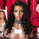 olcso Motherboards-Emberi haj Tüll homlokrész Csipke eleje Paróka Laza hullám Paróka 180% Haj denzitás Természetes hajszálvonal Afro-amerikai paróka 100% kézi csomózású Női Rövid Közepes Hosszú Emberi hajból készült