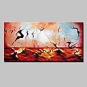 cheap Rolled Canvas Paintings-Oil Painting Hand Painted - Abstract Modern European Style Stretched Canvas