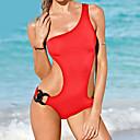 رخيصةأون ساعات ذكية-سادة - ملابس البحر أعلى الرقبة صلب للمرأة / بدون سلك