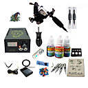 cheap Makeup Brush Sets-Tattoo Machine Starter Kit - 1 pcs Tattoo Machines with 1 x 5 ml tattoo inks LCD power supply Case Not Included 1 damascus steel machine liner & shader