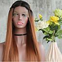 billige Syntetiske parykker uden hætte-Syntetisk Lace Front Parykker Lige Syntetisk hår Ombre-hår / Mørke hårrødder / Natural Hairline Brun Paryk Dame Lang Blonde Front / Afro-amerikansk paryk