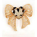 cheap Pins and Brooches-Women's Brooches - Bowknot Bow Brooch Gold / Black For Wedding / Party / Special Occasion / Casual