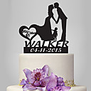 cheap Cake Toppers-Cake Topper Romance / Wedding / Family Classic Couple Plastic Wedding with 1 pcs Poly Bag
