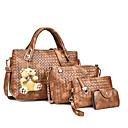 cheap Bag Sets-Women's Bags PU(Polyurethane) Bag Set 4 Pieces Purse Set Solid Colored Black / Red / Brown / Bag Sets