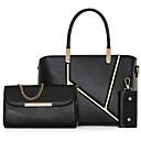 cheap Bag Sets-Women's Bags Other Leather Type Bag Set 3 Pcs Purse Set Ruffles Black / Fuchsia / Wine / Bag Sets
