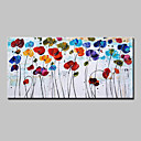 cheap Abstract Paintings-Oil Painting Hand Painted - Floral / Botanical European Style Modern Canvas