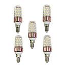 cheap LED Spot Lights-5pcs 9W 600lm E14 LED Corn Lights T 60 LED Beads SMD 2835 Warm White / White 85-265V