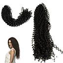 זול צמות שיער-שיער קלוע קלאסי צמות מתולתלות תוספות שיער משיער אנושי 100% שיער קנקלון 30 שורשים / Pack שיער צמות יומי