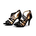hesapli Latin Dans Ayakkabıları-Kadın's Dans Ayakkabıları Akın Toka Sandaletler Stiletto Topuk Kişiselleştirilmiş Siyah / Egzersiz / EU42